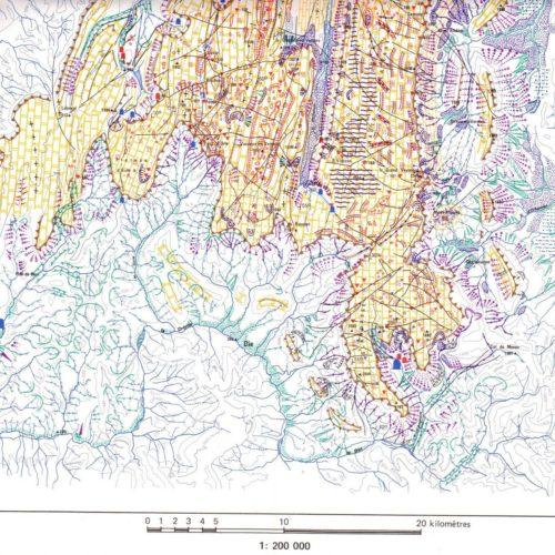 Carte géomorphologique du Vercors